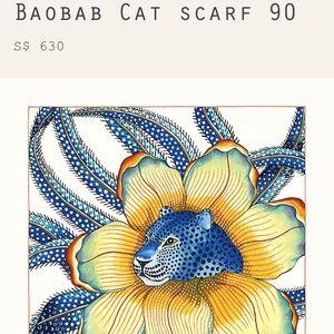 Hermès Baobab Cat Scarf 90